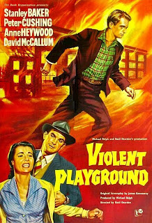 Caratula, dvd:Barrio peligroso | 1958 | Violent Playground, cover
