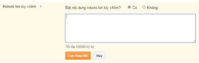 File robots.txt chuẩn cho blogspot