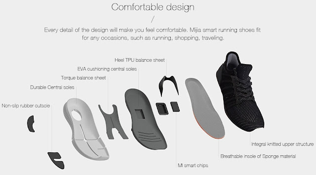 Xiaomi Mi MiJia Smart Shoe powered by an Intelligent Intel Chip trendy tech buzz