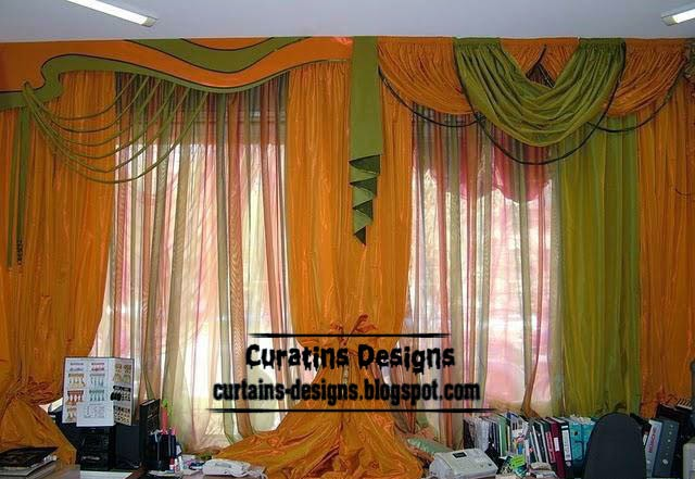 ready made curtains, modern curtain designs, orange curtains