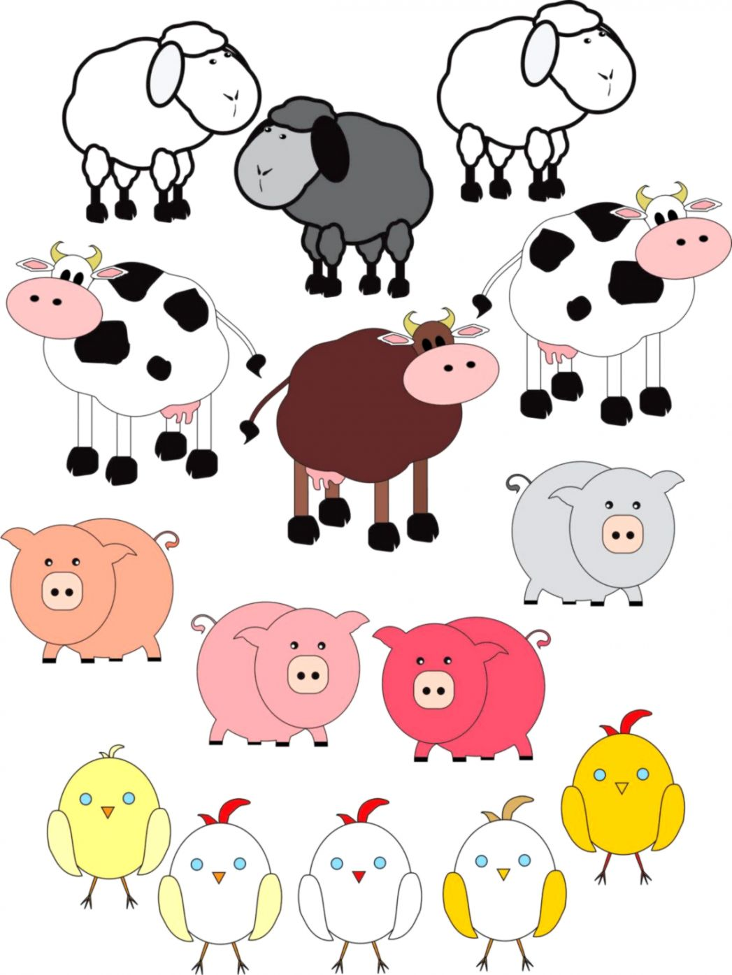 Farm Animals Clipart For Kids   Wallpapers For You