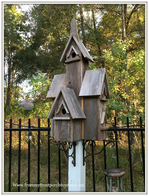 Recycled Wood Birdhouse-DIY Stand-Cottage Style-Famrhouse Style-From My Front Porch To Yours