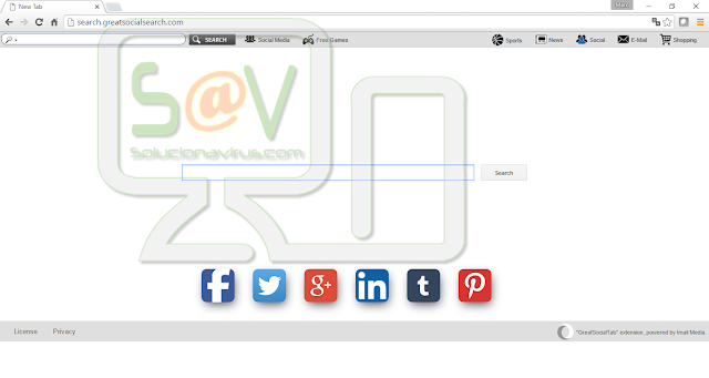 Search.greatsocialsearch.com (Hijacker)