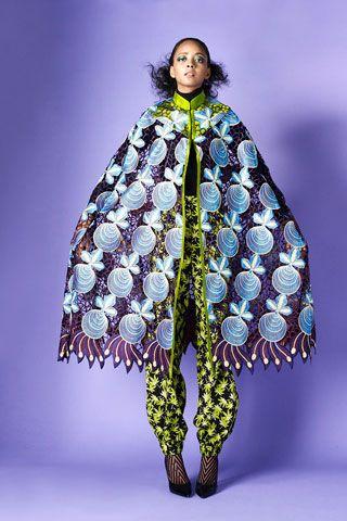 When Ladylike Glam Collide With Fantastical Prints at Duro Olowu's Fall 2013 Presentation www.toyastales.blogspot.com #ToyasTales