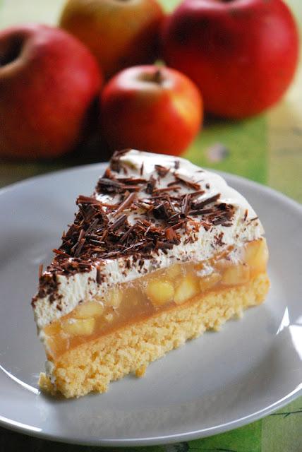 Patces Patisserie Apfel Torte Mit Quark Creme Schokolade