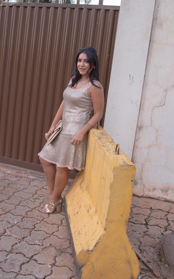 Vestido de paetês Rosê: pronta para a festa