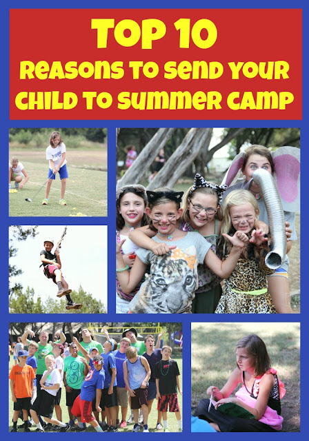 While I'm Waiting...Top 10 reasons to send your child to summer camp