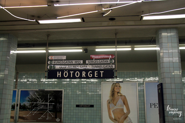Hotorget station in Stockholm downtown