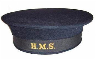 WW2 Sailor's cap with HMS tally.  (From Surplus & Outdoors)