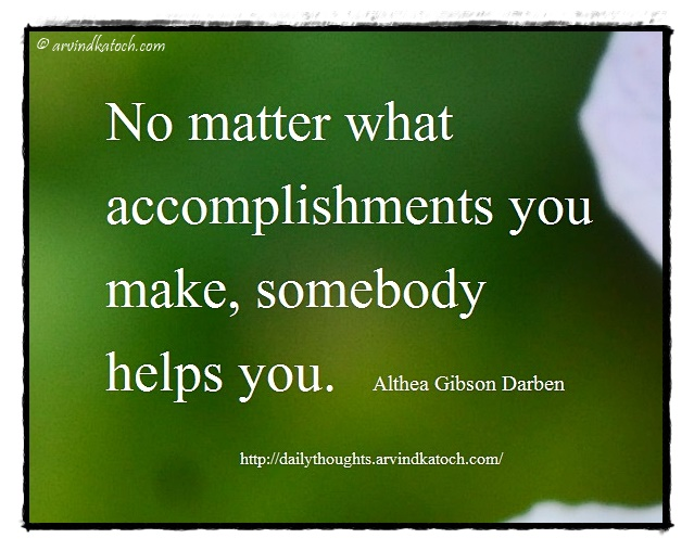 Daily Thought, Meaning, Accomplishments, Darben, Daily quote