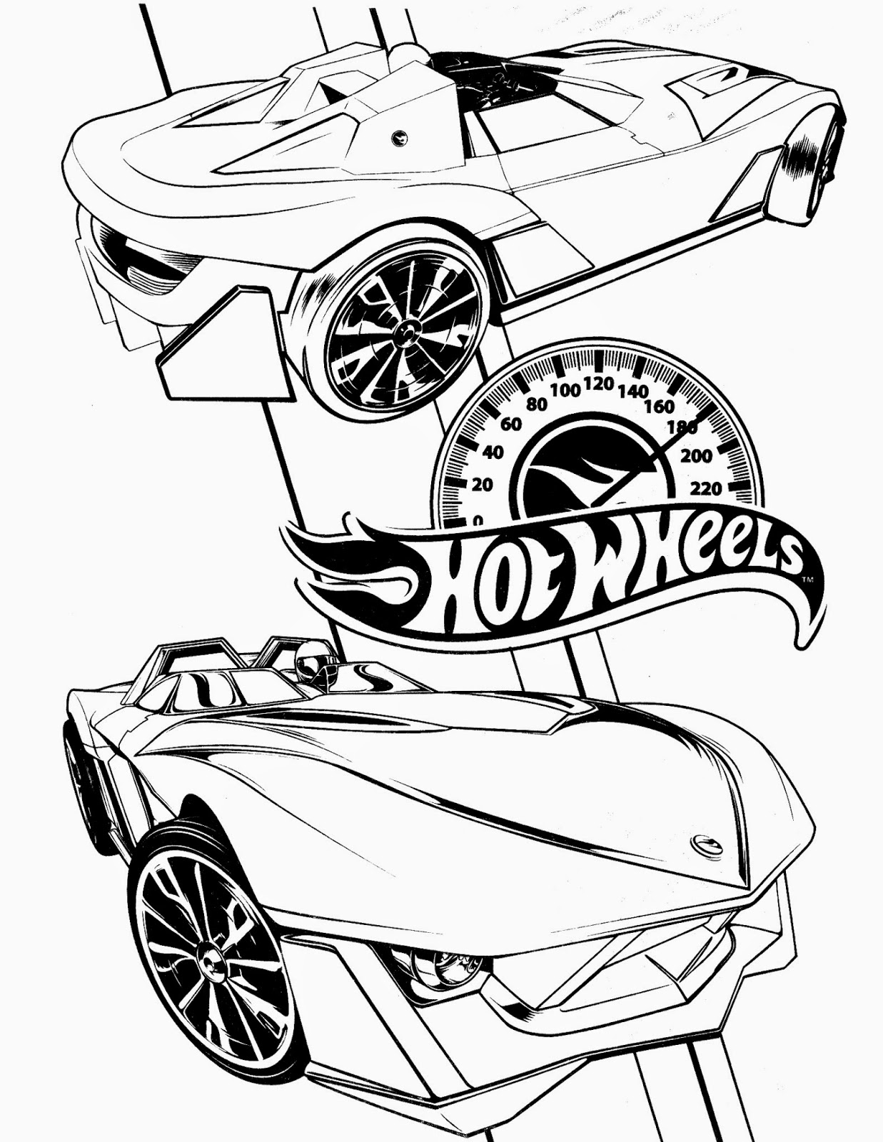 Hot Wheels Coloring Pages 74