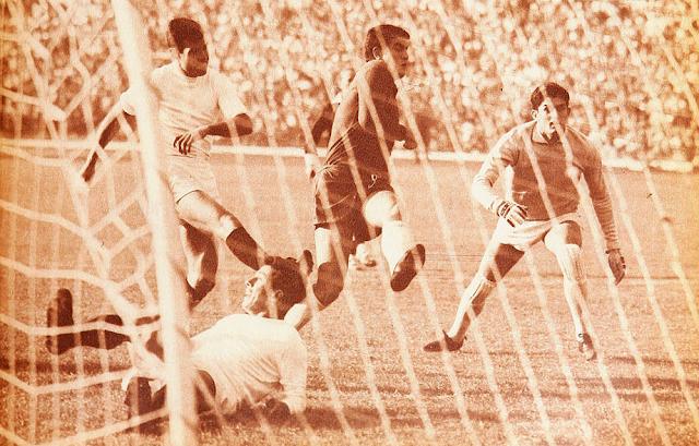 Chile y México en partido amistoso, 29 de mayo de 1966