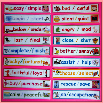 Worksheets Word Wise  With Synonym ,antonym,homophone nylas crafty teaching july 2013 synonym word wall with pictures