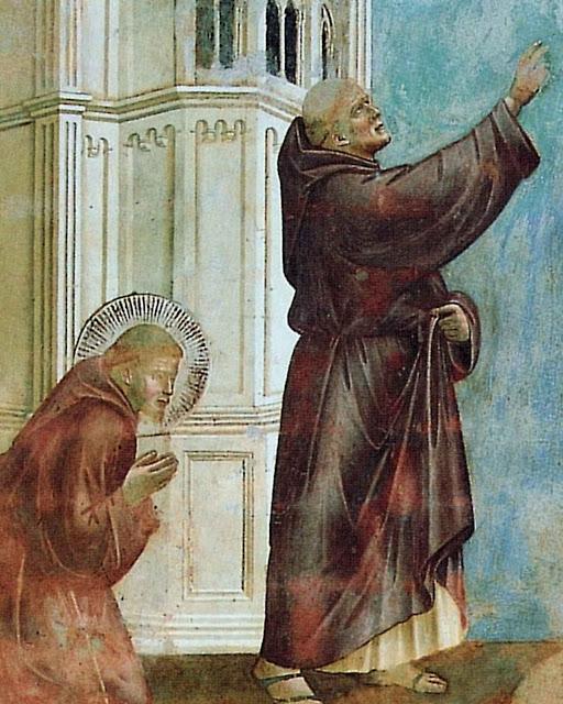 São Francisco, frei Silvestro e o exorcismo de Arezzo., Giotto