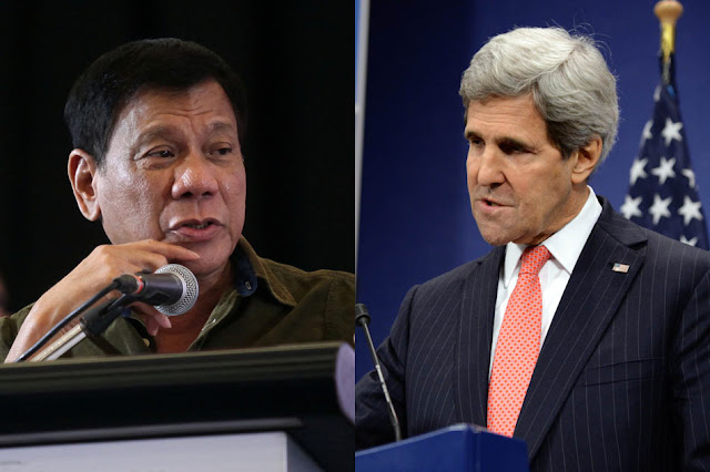 US Secretary of State Kerry arrives in Manila to meet with Pres. Duterte