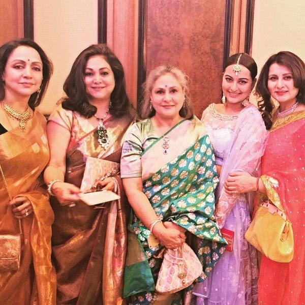 Hema Malini, Tina Ambani, Jaya Bachchan, Poonam Dhillon, Kush Sinha's grand wedding Pics