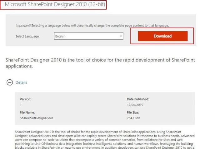 sharepoint designer exe download