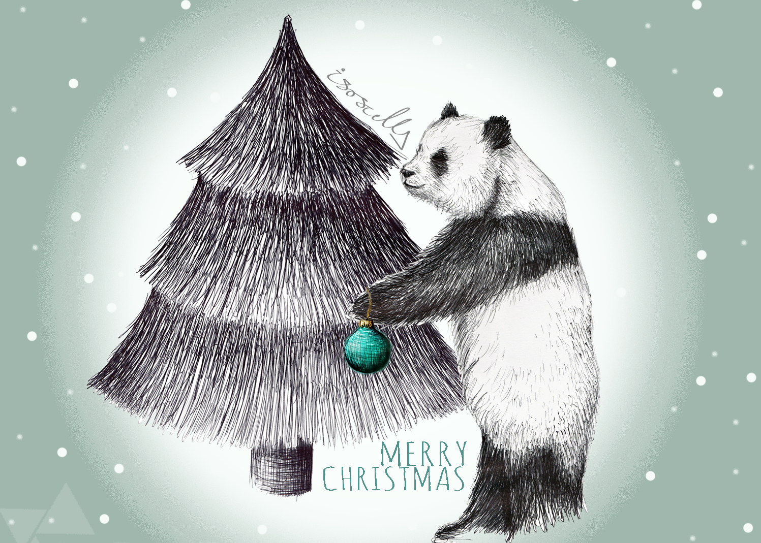 Art Handmade Christmas Cards by Isoscella