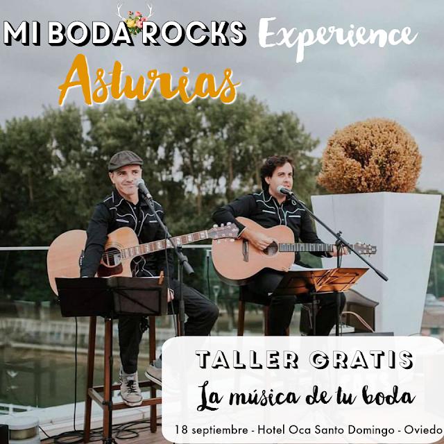 Taller gratis La musica de tu boda - Mi Boda Rocks Experience Oviedo Asturias