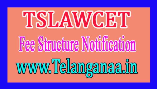 TSLAWCET 2018 Fixation Fee Structure Notification