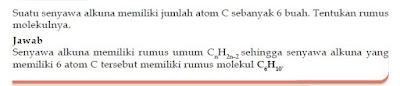 Tata Nama dan Rumus Umum serta Contoh Soal Senyawa Hidrokarbon Alkuna