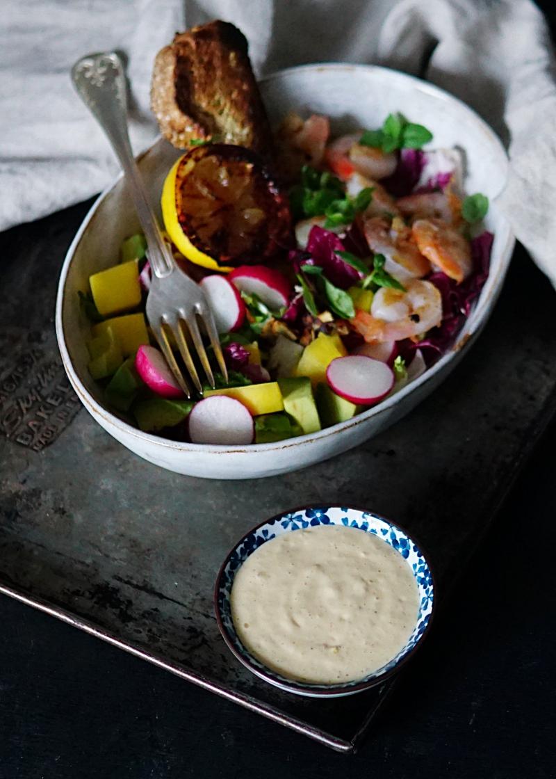 aioli, mangosalaatti, salaattiresepti, rapusalaatti