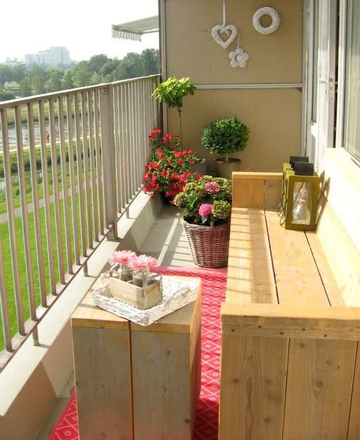 Blog Achados de Decoração. Decoração para sacadas e terraços pequenos ou minúsculos