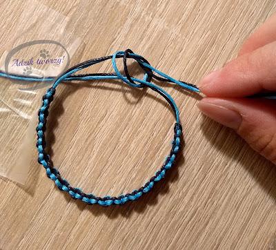 Adzik tworzy - Jak zrobić regulację w sznurkowej bransoletce DIY