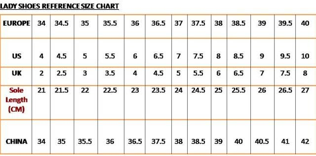 Shoe Comparison Size Chart Girls To Women