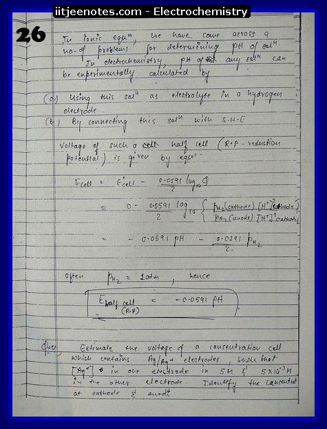 Electrochemistry Notes10