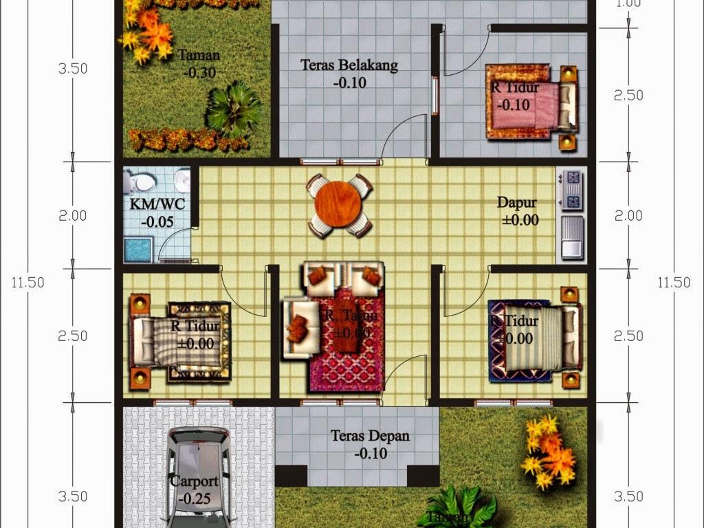 Ukuran Ruangan rumah minimalis