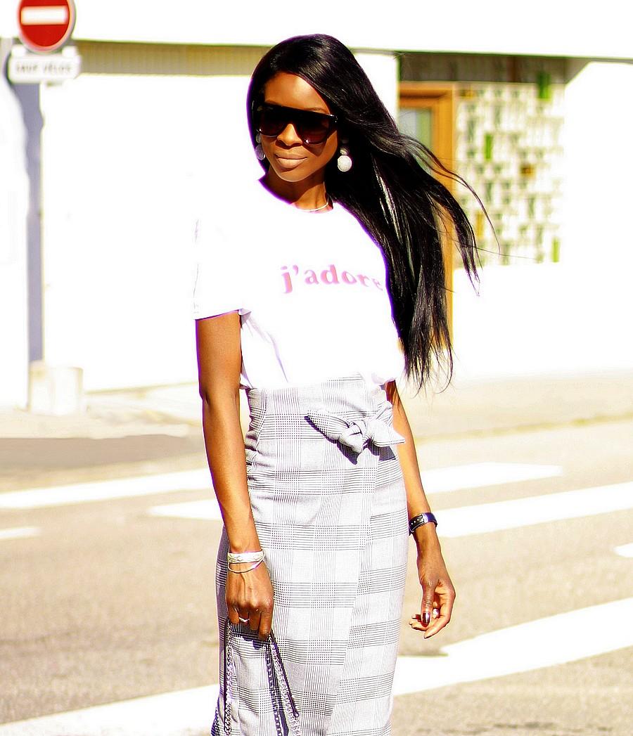 jupe-taille-haute-pied-de-poule-blog-mode