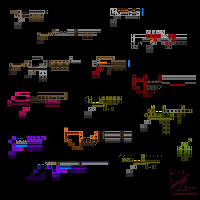 Ascii weapons