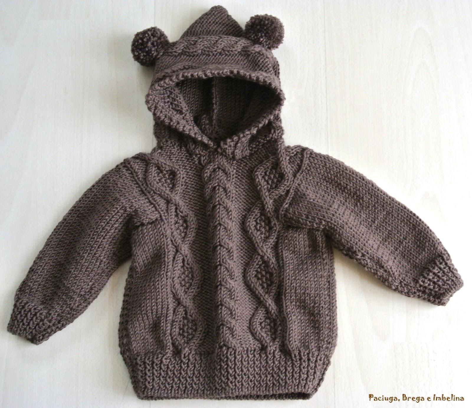 Popolare La maglia da bimbo con cappuccio e orecchie da orso | Paciuga  ID11