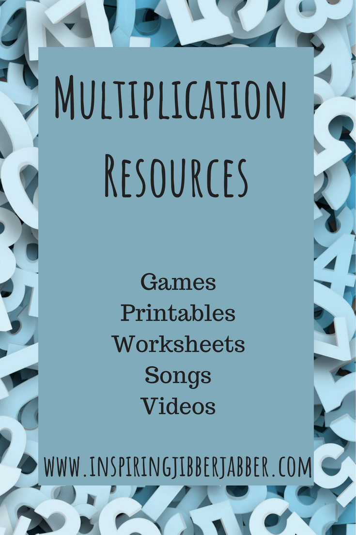 Inspiring Jibberjabber: Multiplication Resources