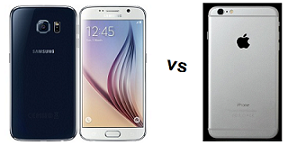 Perbandingan Dahsyat Samsung Galaxy S6 Vs Iphone 6