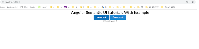 Angular Semantic UI tutorial with examples