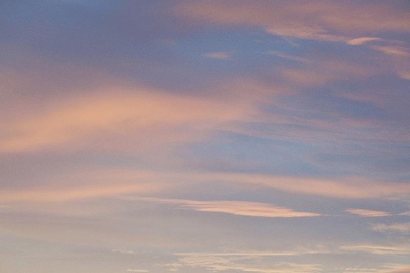December Evening Pastell Sky