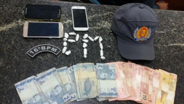 Três pessoas são presas por tráfico de drogas em Mata Roma.