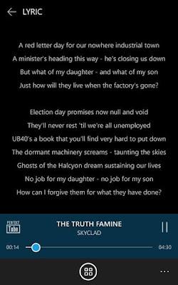 lyrics page