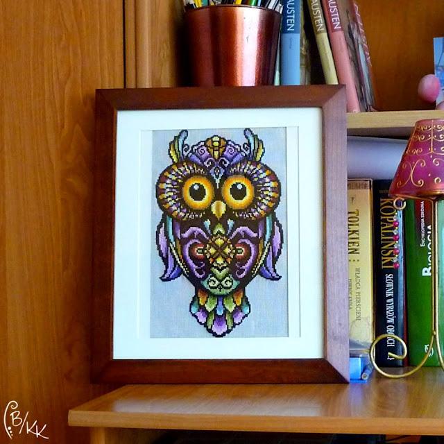haft krzyżykowy sowa | cross stitch owl