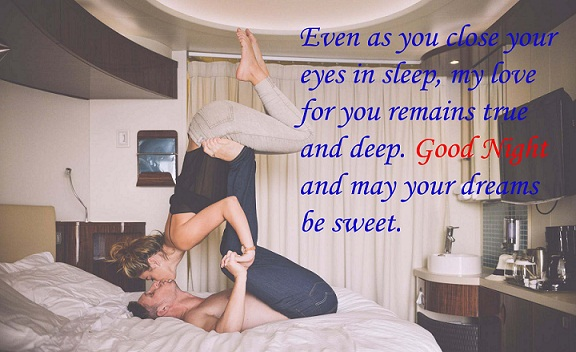 Romantic Good Night Kiss Images for Wife, Husband, Couples