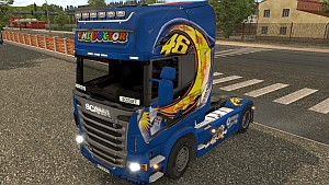 The Doctor VR46 Scania R skin