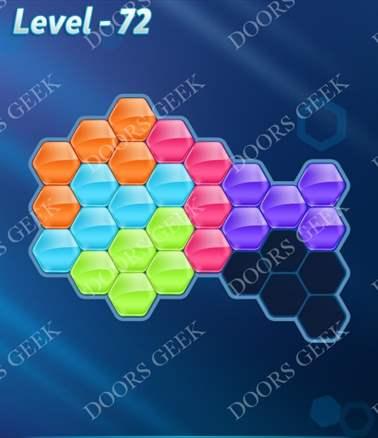 Block! Hexa Puzzle [6 Mania] Level 72 Solution, Cheats, Walkthrough for android, iphone, ipad, ipod