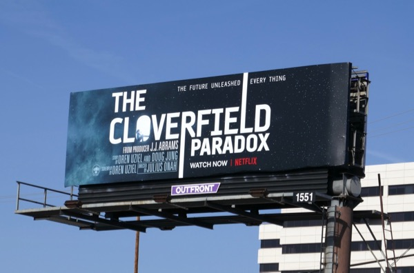 Cloverfield Paradox movie billboard