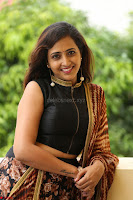 Lasya looks super cute in black choli Saree at Raja Meru Keka Press Meet ~  Exclusive 025.JPG