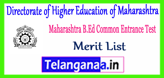 Directorate of Higher Education of Maharashtra B.Ed CET Cutoff 2018 Merit List Download