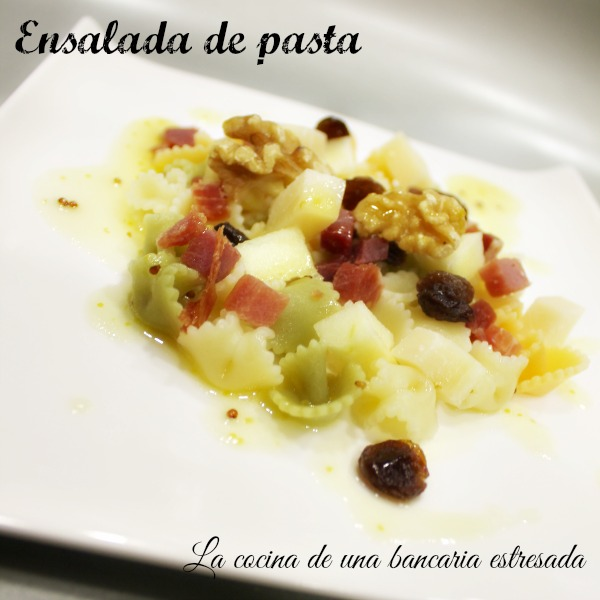 Receta de ensalada de pasta, paso a paso y con fotografías