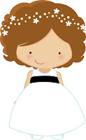 Cute flower girl cartoon