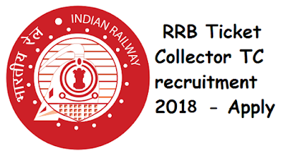 RRB Chennai 2018 TC (Ticket Collector) Recruitment